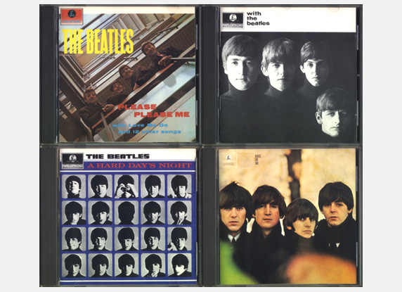 'Please Please Me', 'Meet The Beatles',' A Hard Day's Night', 'Beatles For Sale' CD's