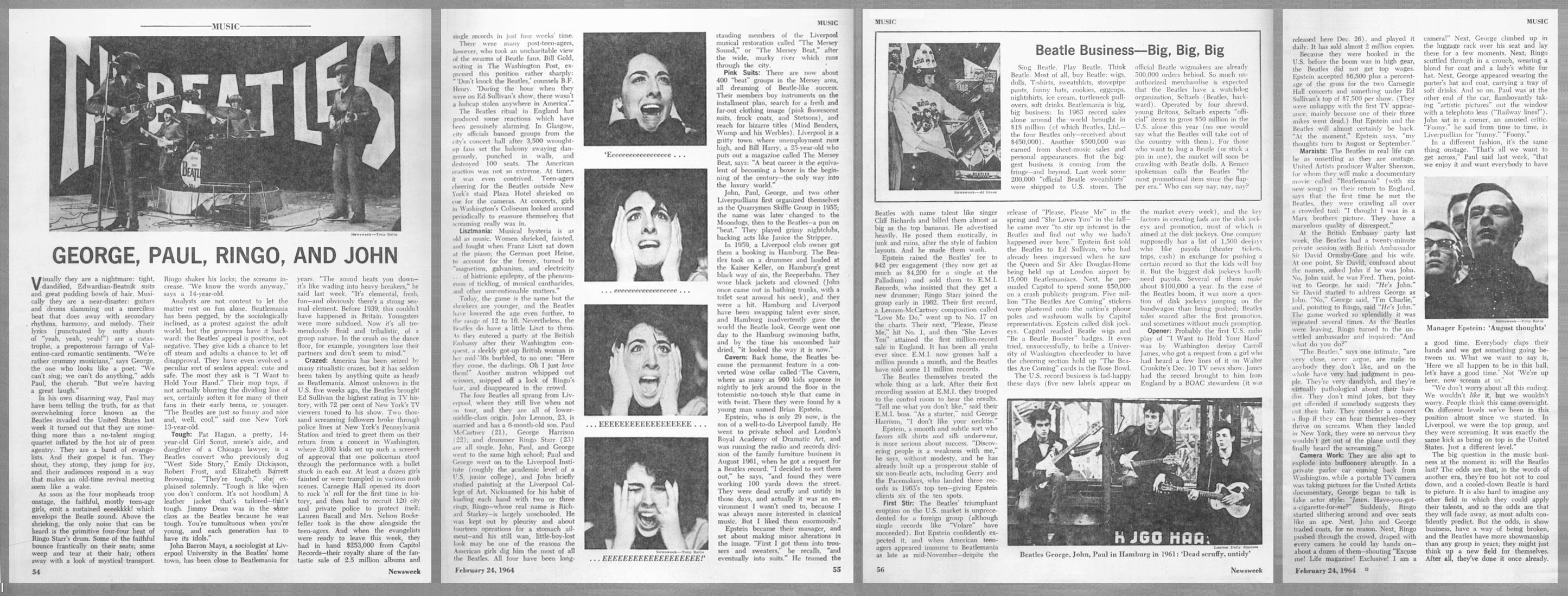 How to scrapbook with newspaper articles - Beatles Scrapbook 1963 76